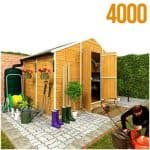 The BillyOh 4000XL Windowless Lincoln Apex Garden Shed