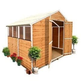 The BillyOh 400M Lincoln Overlap Apex Garden Shed