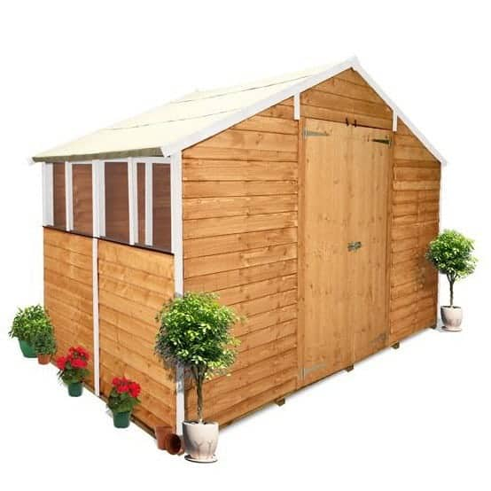 The BillyOh 400XL Lincoln Overlap Workshop Garden Shed