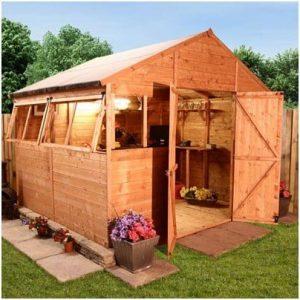 The BillyOh 5000 Greenkeeper Premium Tongue & Groove Double Door Apex Garden Shed