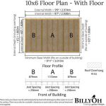 The BillyOh 5000 Pent Sanctuary Summerhouse 10 X 6 Floor Plan with Floor