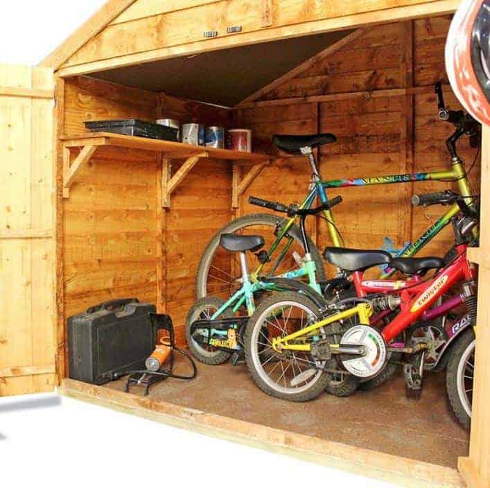 The Billyoh Bike Storage The BillyOh Bike Storage Shed 4 X 6 Inside View