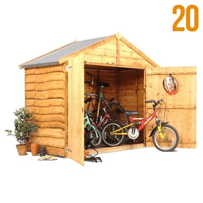 sc 1 st  WhatShed & The Billyoh Bike Storage Shed 4 x 6