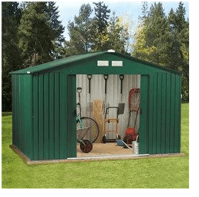 The BillyOh Clifton Metal Shed and Foundation Kit