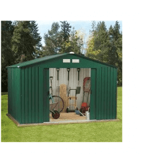 The BillyOh Clifton Metal Shed with Tongue and Groove Wooden Floor