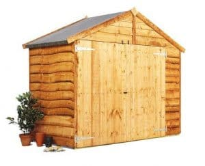 The BillyOh Cycle Storage Shed Closed Doors