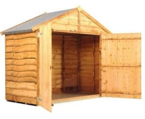 The BillyOh Cycle Storage Shed Open Doors