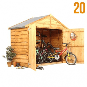 The BillyOh Extra Wide Bicycle Storage Shed