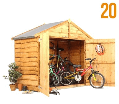 The BillyOh Extra Wide Bike Storage Shed