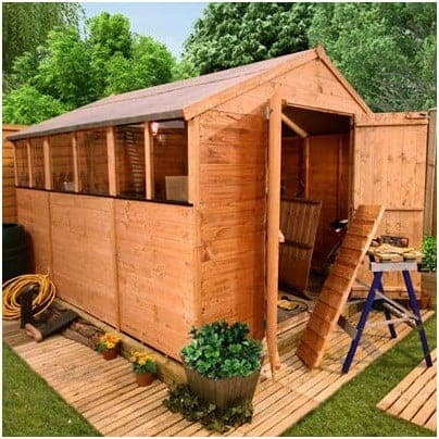 The BillyOh Lincoln 4000 Tongue & Groove Double Door Apex Garden Shed