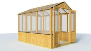 The BillyOh Lincoln 4000 Wooden Greenhouse 9 X 6 empty view
