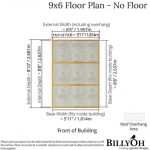 The BillyOh Lincoln 4000 Wooden Greenhouse 9 X 6 floor plan with floor