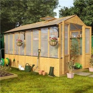 The BillyOh Lincoln Wooden Greenhouse