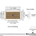 The BillyOh Overlap Bike Storage Shed Small 4 X 6 floor plan with floor