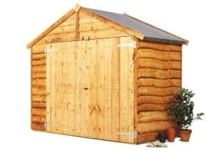 The BillyOh Overlap Bike Storage Shed Small 4 X 6 right side view