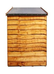The BillyOh Overlap Bike Storage Shed Small 4 X 6 side view