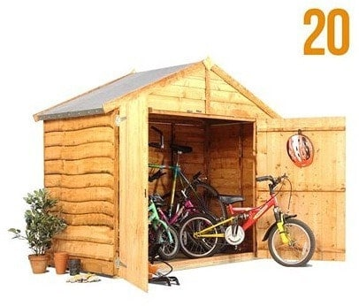 The BillyOh Overlap Bike Storage Shed