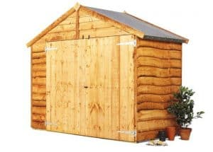 The BillyOh Premium Bike Shed 4 X 7 right side view