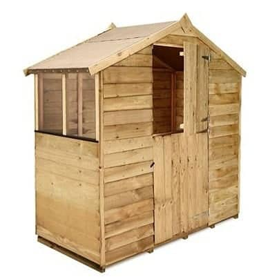 The BillyOh Pressure Treated Overlap Apex Garden Shed