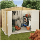 The BillyOh Retford Wood Grain Apex Plastic Shed