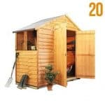 The BillyOh Rustic 20M Overlap Apex Shed