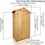 The BillyOh Sentry Box 3 X 2 dimensions