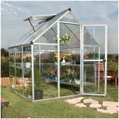 The Billyoh Silver Aluminium 3000S Easy Fit Greenhouse - What Shed