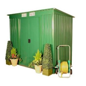 The BillyOh Sutton Pent Metal Shed 6 X 4 closed door