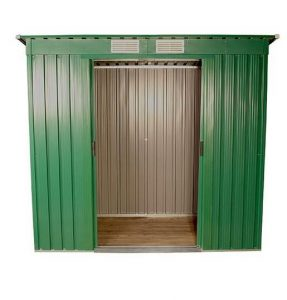 The BillyOh Sutton Pent Metal Shed 6 X 4 empty