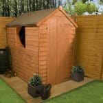 The BillyOh Traditional Economy Wooden Garden Shed closed door