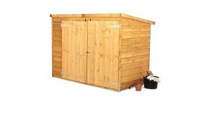 The Billyoh 300 Pent Tongue Groove Bike Storage or Mini Shed 3 X 6 side