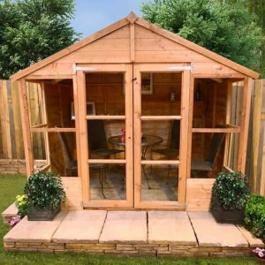 The Billyoh 4000 Tete a Tete Tongue & Groove Summerhouse front 8 X 8