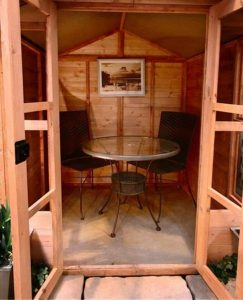 The Billyoh 4000 XL Lucia Tongue & Groove Summerhouse 12 X 10 with internal view