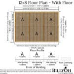 The Billyoh 5000 Eden Premium Workshop Log Cabin 12 X 8 Summerhouse Floor Plan with Floor