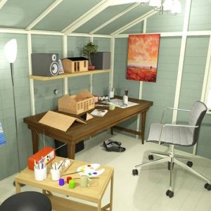 The Billyoh 5000 Eden Premium Workshop Log Cabin 12 X 8 Summerhouse office