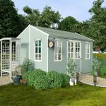 The Billyoh 5000 Eden Premium Workshop Log Cabin 12 X 8 closed