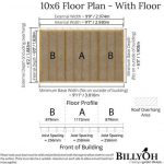 The Billyoh 5000 Gardener's Haven 10 X 6 floor plan - with floor