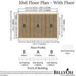 The Billyoh 5000 Gardener's Haven 10 X 6 floor plan - with floor