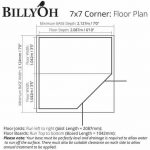The Billyoh 5000 Georgian Summerhouse 7 X 7 Corner Building Floor Plan