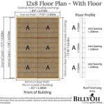 The Billyoh 5000 Greenkeeper Premium Tongue & Groove Double Door Garden Workshop 16 X 10 floor plan with floor