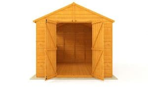 The Billyoh 5000 Greenkeeper Premium Tongue & Groove Double Door Garden Workshop 16 X 10 front