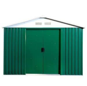 The Billyoh Ballington Metal Shed 8 X 6 door closed