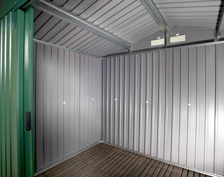 The Billyoh Beeston 8 X 6 Metal Shed With Foundation Kit