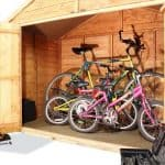 The Billyoh Bike Storage Shed 4 x 7 right inside view