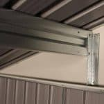 The Billyoh Carrington Metal Shed 10 X 8 support