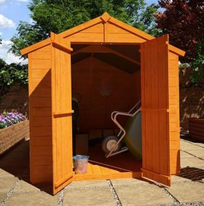 The Billyoh Lincoln 4000 Popular Tongue and Groove Double Door Apex Garden Shed 8 X 6 front view