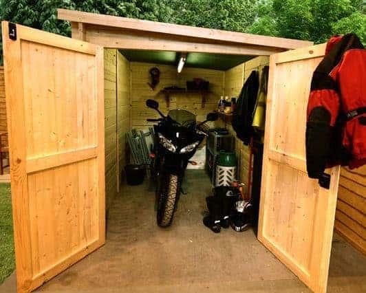 the billyoh motorbike storage shed. Black Bedroom Furniture Sets. Home Design Ideas