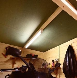 The Billyoh Motorbike Storage Shed 7X9 roof
