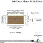 The Billyoh Overlap Bike Store 3X6 overall dimensions