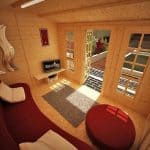 The Billyoh Pathfinder Huntsman Log Cabin 11X9 internal view